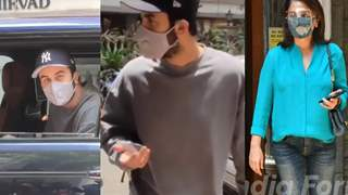 Scared to step out of Car, Ranbir asks Papz to move away: Photos- Videos