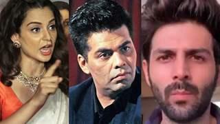 """""""Don't force him to hang himself like Sushant"""": Kangana warns Karan Johar about Kartik Aaryan"""
