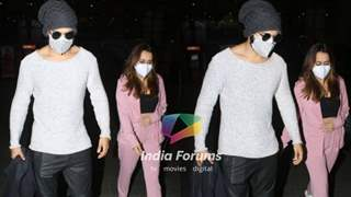 Pics: Varun Dhawan and wife Natasha look their stylish best as they return back to Mumbai