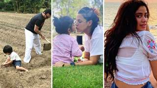 Earth Day 2021: Saif and Taimur plant trees; Neha kisses baby Mehr; Janhvi's imp message