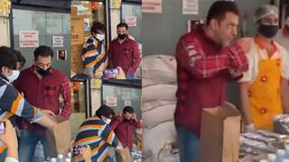 Salman Khan personally tastes food for quality check before distributing 5000 food packets to needy; See video