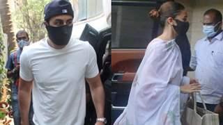 Ranbir-Alia arrive at Neetu Kapoor's house for Rishi Kapoor's death anniversary puja; see pictures!