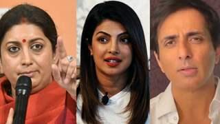 Smriti Irani reacts to Priyanka Chopra extending support to Sonu Sood