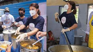 Jacqueline Fernandez personally helps prepare and distribute meals to people amid Covid-19 crisis; see pictures