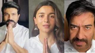 """""""Time has come to unite and fight"""": Alia- Ajay-Ram Charan give out an important message with folded hands: Video"""