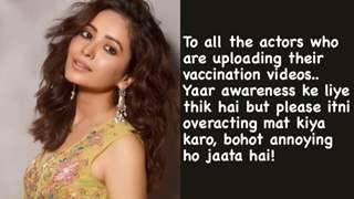 Asha Negi takes a jibe at actors sharing vaccination videos, says 'Itni overacting mat kiya karo'