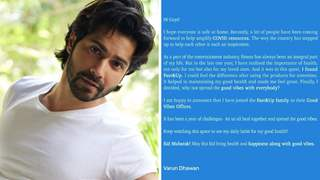 Varun Dhawan announces unique initiative to support frontline workers: See Post