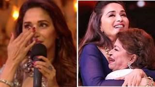 Madhuri Dixit breaks in tears, Recalls late Saroj Khan scolding her