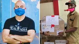 Anupam Kher makes generous donation of 5 oxygen concentrators, BiPAP machines to BMC