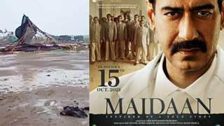 Ajay Devgn's 'Maidaan' sets heavily damage by cyclone Tauktae; Guards try their best to save the set: Reports