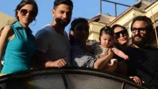 Saba poses with Saif, Kareena, Taimur, Inaaya in a rare public appearance; Thanks paps for capturing the moment!