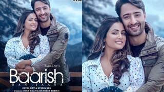 Hina Khan and Shaheer Sheikh music poster titled 'Baarish Ban Jaana'; release date and poster out now