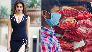 Urvashi Rautela distributes ration to daily wage labourers in Uttarakhand affected by Covid-19