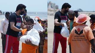 Maniesh Paul aids BMC workers with 'ration kits' as admiration for their hard work post Cyclone Tauktae
