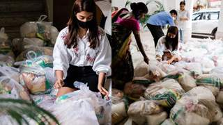 Pooja Hegde helps the needy by arranging a month's rations for 100 families!