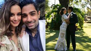 Evelyn Sharma marries Tushaan Bhindi; shares first photo from her intimate wedding ceremony in Australia!