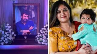 On husband Chiranjeevi Sarja's death anniversary, Meghana Raj to visit memorial with son