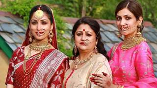 Yami Gautam as new bride, poses with sister Surilie & mom in new wedding picture