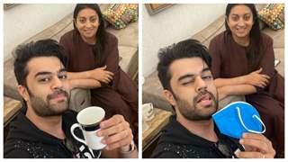 Manish Paul meets Smriti Irani at her place; jokes about having 'kadha' instead of tea