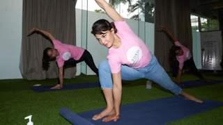 World Yoga Day: Jacqueline Fernandez's YOLO Foundation organises a Yoga session for NGO kids