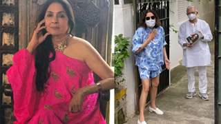 Neena Gupta criticized for wearing shorts while visiting Gulzar, gives befitting reply to her trolls
