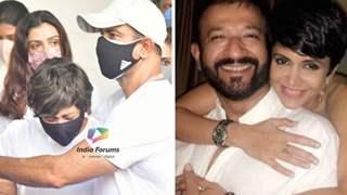 Pics: Mandira Bedi breaks down at husband Raj Kaushal's funeral, Ronit Roy consoles her