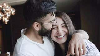 Anushka Sharma and Virat Kohli snapped goofing around during a shoot; see picture!