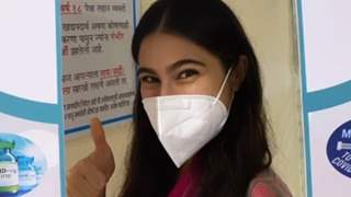 Sara Ali Khan says, 'This girl is vaccinated' as she gets the first dose of COVID-19 vaccine!