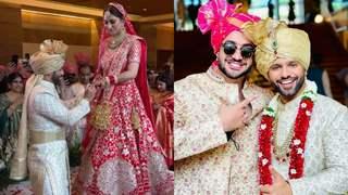 Disha Parmar and Rahul Vaidya wedding: The couple's first glimpse as bride and groom