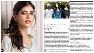 Sanjana Sanghi's Humans of Bombay post deleted after a lot of backlash