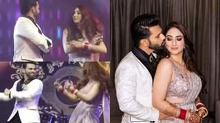 Inside photos and videos from Disha Parmar and Rahul Vaidya's wedding reception