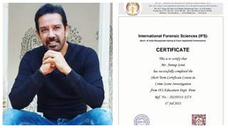 Anup Soni completes course in crime scene investigation from IFS