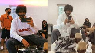 Kartik Aaryan gives a sneak peek into his new look, fans wonder if it's for an upcoming project