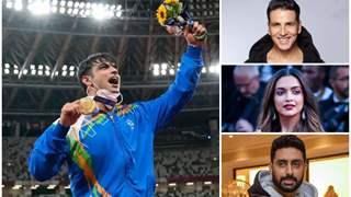 Abhishek, Akshay, Deepika and other celebs laud Neeraj Chopra - 'India's Olympic champion'