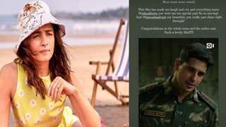Alia Bhatt praises Sidharth Malhotra for his performance in 'Shershaah'