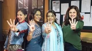 Despite lockdown the actresses were in touch, rehearsed their lines online and are now back on sets