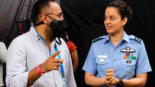 Kangana Ranaut turns airforce pilot for her next, shares first look with a BTS picture from 'Tejas'