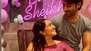 Ruchikka Kapoor and Shaheer Sheikh are all smiles at the 'baby shower'