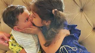 Inaaya steals a kiss from baby brother Jehangir on their first Raksha Bandhan, see pic!