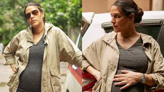 Neha Dhupia slips into police uniform, to play the role of pregnant cop in 'A Thursday'