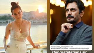 """Kangana Ranaut defines Nawazuddin Siddiqui as """"one of the best actors in the world"""" after his Emmy nominations"""