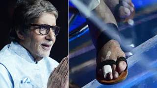 Amitabh Bachchan fractured his toe but continues to work on 'KBC'