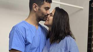 Angad Bedi thanks wife Neha Dhupia with an adorable picture from the hospital