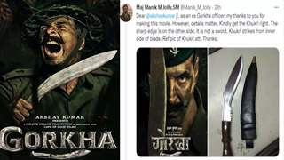 Akshay Kumar reacts to a retired Army officer pointing out a mistake in the 'Gorkha' poster
