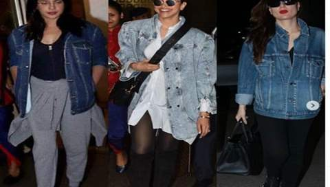 Is an oversized denim shirt the 'go to clothing' for all our Bollywood divas?