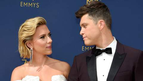 Fiancee Scarlett Johansson's Monologue Had a Special Appearance By Colin Jost