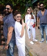 Shefali Jariwala snapped with her husband in Versova