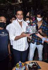 Sonu Sood greets his fans as they gather to celebrate his birthday