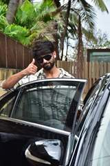 Shahid Kapoor snapped in the city today.