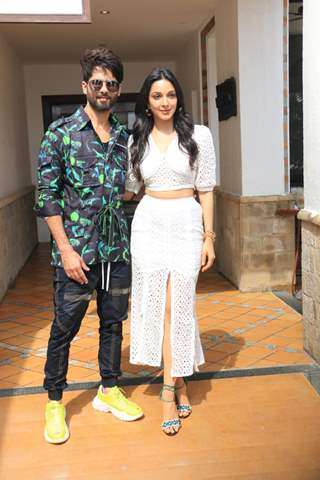 Shahid Kapoor and Kiara Advani at the promotions of Kabir Singh!